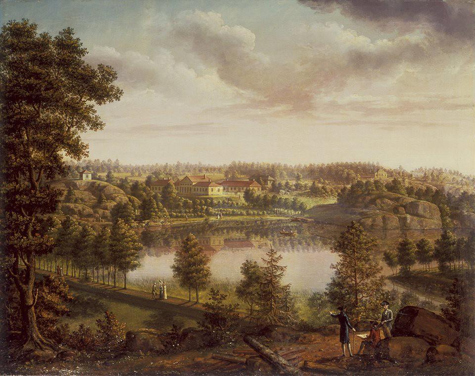 Вид усадьбы Монрепо. Якоб Меттенлейтер, 1796 г.