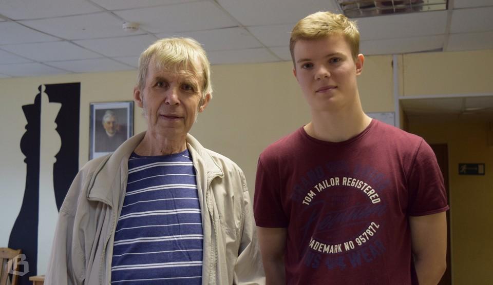 Кирилл Алексеенко и тренера Сергей Балякин