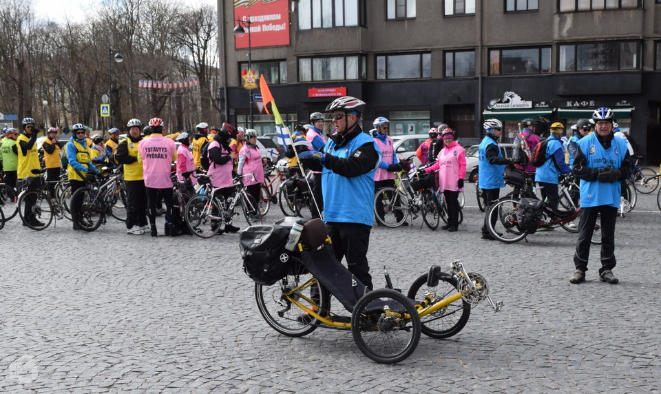 Финиш велопробега Выборг - Лаппенранта