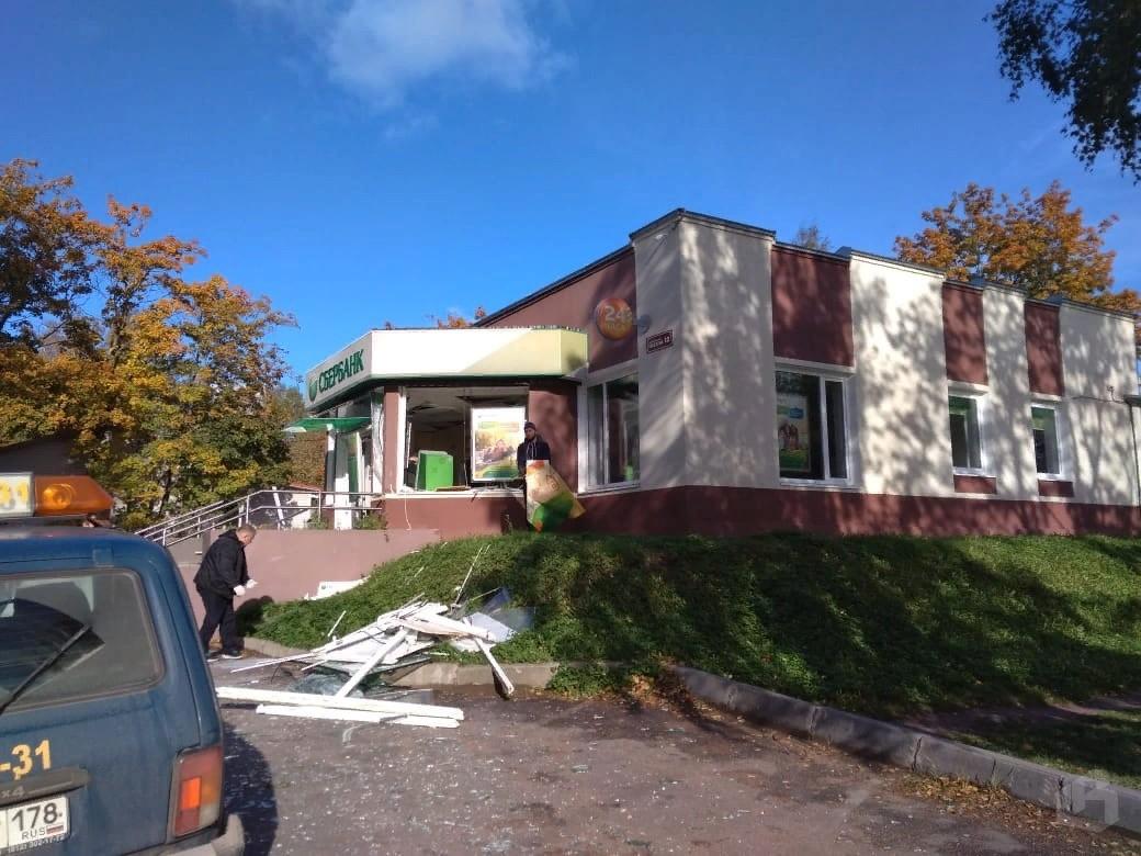 Взрыв Сбербанка в Приморске