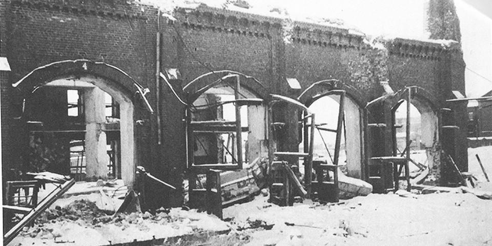 Паровозное депо после пожара