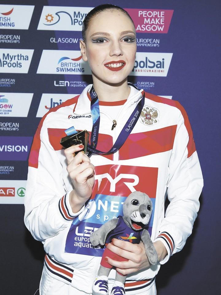 Синхронистка Светлана Колесниченко на Олимпиаде