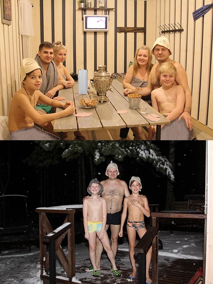 семьёй голые в бане M1bar.com