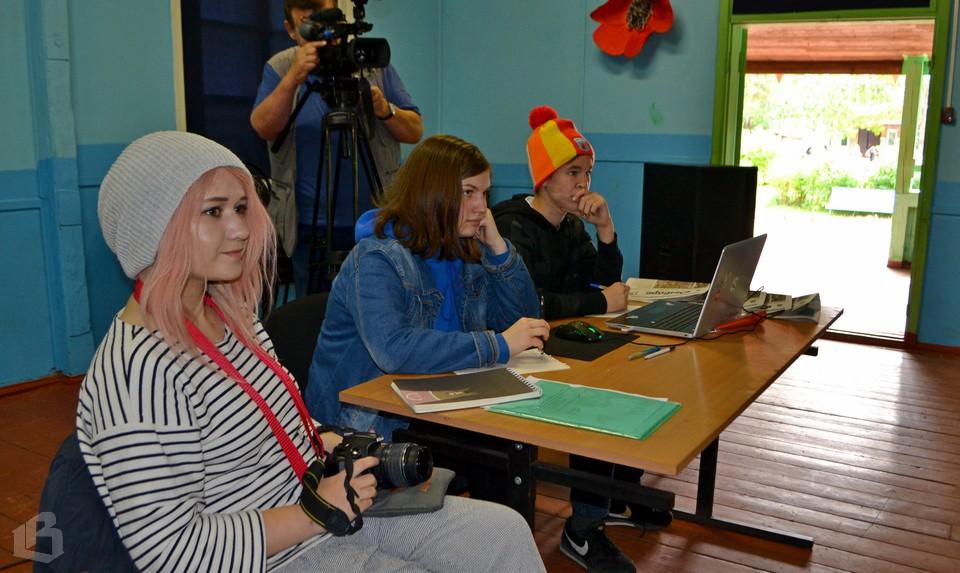 Ольга Маркова со своими воспитанниками