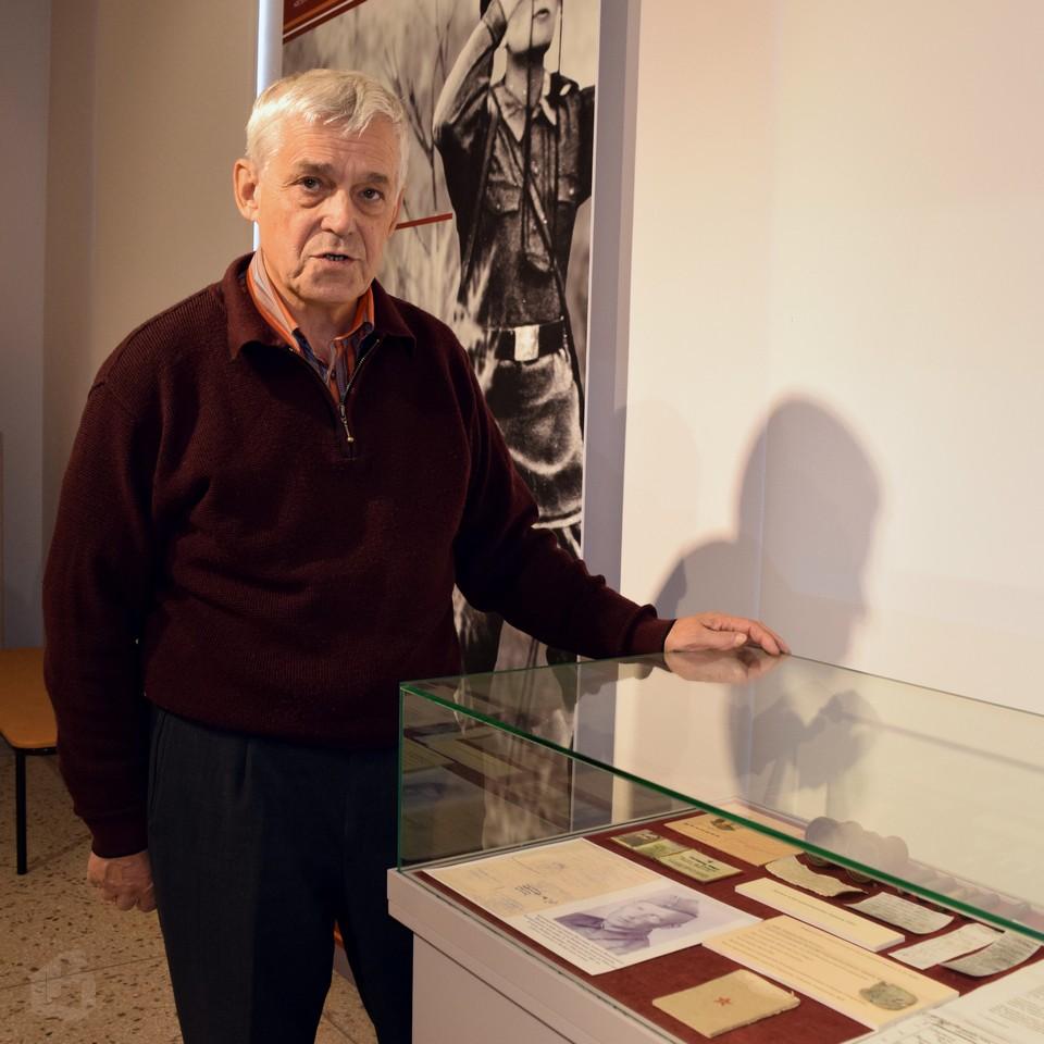 жетон военнопленного в музее Выборга