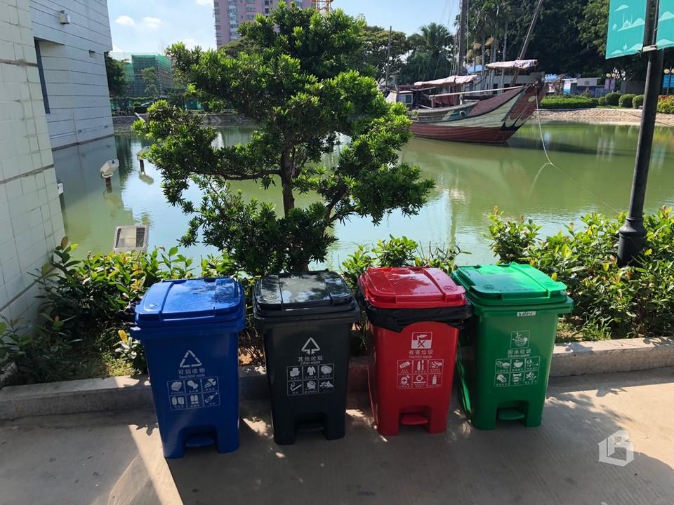 Везде в КНР – раздельный сбор мусора