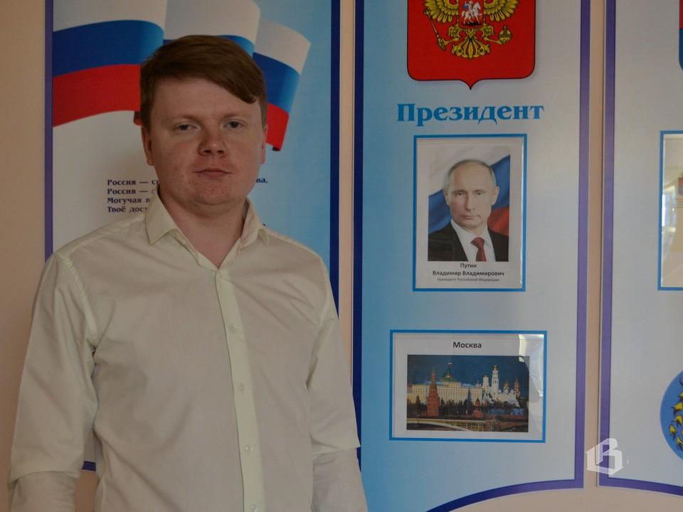 Денис  Коробицын  приехал  в Выборг  из Архангельска
